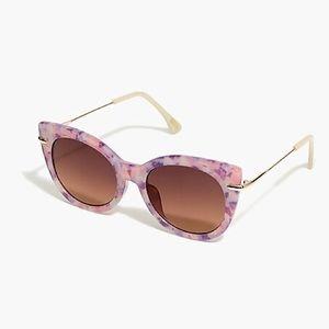 J. Crew Poolside Sunglasses in Milky Purple Tort